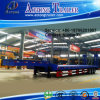 2-3 Axle 30-40t Low Flat Semi Trailer (concave beam pumping structure exposed tires) (LAT9321TDP)