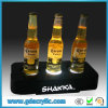 LED Display Acrylic Wine Holder with Logo Carve on