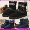2014 New Design Boot with Buckle Decorate Warm Snow Boots