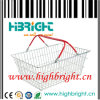 Chrome Supermarekt Steel Metal Wire Shopping Baskets