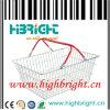 Chrome Supermarekt Steel Metal Wire Shopping Baskets