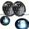 Lantsun 75W 7inch Round LED Headlight with DRL Hi/Lo Beam Phillips LEDs for Jeep Wrangler Jk Tj and Harley-Davidson