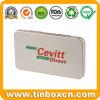 Rectangular Tin Box for Medicine with Food Grade