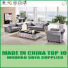 Modular Chesterfield Sectionals Leather Sofa with Wooden Frame