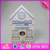 2016 Wholesale Baby Toy Wooden Bird House, DIY Kids Toy Wooden Bird House, Popular Children Toy Wooden Bird House W03b049