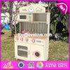 New Design Children Pretend Play Wooden Pink Play Kitchen W10c268