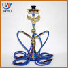 Eagle Red Blue 4 Pipes Shisha Glass Pipe Hookah