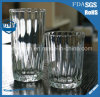 305ml Stripe Straight Body Transparent Juice Cup Multi Function Glass Cup