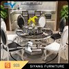 Modern Stainless Steel Dining Table Set Marble Round Table