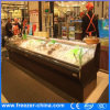 Auto Defrost Open Top Seafood Display Cooler with Night Curtain