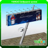 Oblique Square Pillar Street Advertising LED Backlit Billboard