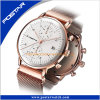 316L Stainless Steel Case Domed Glass Dual Time Wrist Watch