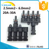 Mc4t-A4 M/FM 4 to 1 Branch Solar Panel Connector Cable