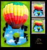 Hot Air Balloon 3D Floor Sticker