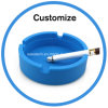 Silicone Plastic Ashtray with Custom Logo