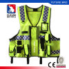 Utility Safety Vest with Pockets Zipper Reflective High Visibility for Police Duty