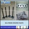 KIA Pride Engine Parts Cylinder Head Water Pump Intake Valve Exhaust Valve (KK15010100D GWMZ-31 MB301-12-111 KK151-12-121)