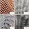 Hot Fix Strass Tape Chain Roll Crystal, Mesh Iron on Glass Metal Rhinestone Sheet