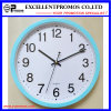 Blue Frame 12 Inch Round Plastic Wall Clock (EP-101)