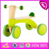2015 New Arrival Wooden Kid Trike Toy, Interesting Cheap Wooden Tricycle Toy, Green Color Wooden Baby Tricycle Toy in Bulk W16A013