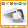Rectangle Name Card Tin Box with Plain Silver Printing