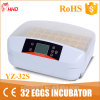 Hhd New Arrival Chicken Machine Hatching Egg Incubator for Sale (YZ-32S)