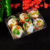 OEM disposable thermoform 4PCS clear plastic egg box(pet tray)