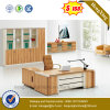White and Oak Combination CEO Director Office Desk (NS-ND076)