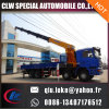 Shacman 12 Wheeler Cargo Chassis with Chianese Brand Truck Crane