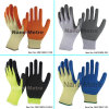 Nmsafety Polycotton Coated Latex Glove Rubber Labor Work Glove