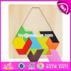 Best Design Classic Brain Teaser Wooden Triangle Puzzle for Kids Education W14A167