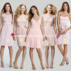 Custom Made Party Prom Gowns Short Chiffon Lace Bridesmaid Dress Yao103001