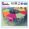 8-Seater Colorful Wooden Kids Table and Chair (SF-01K2) for Kindergarten Nursery Kids Children Desk Chairs