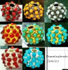 Fashion Pave Alloy Beads, Multicolor Shamballa Beads (2250)