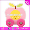 Wholesale Cheap Fruit Shape Baby Toddlers Toys Wooden Toy Cars for Kids W04A346