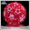 CE/RoHS Indoor Red LED Christmas Glass Ball Light