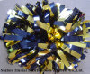 Metallic Gold Navy POM Poms