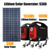 110V/220V/230V 100W Portable Solar Power Generator for Home Use