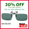 Promotion Polarized Clip on Sunglasses Eyewear Tac UV400 Driving Glasses