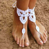 Ankle Bracelet Hand Crochet Barefoot Sandals Foot Jewelry Beachwear Swimwear