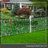 Artificial Privacy Hedge Fence with Flowers