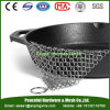 Cast Iron Pan Scrubber / Stainless Steel Chain Mail Mesh Cleaner