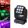 9pcsx 10W RGBW LED Moving Head Matrix Blinder Stage Light