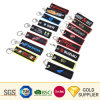 Custom Fashion Embroidery Sublimation Printing Logo Aircraft Woven Keyring Luggage Tags Double ...