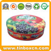 Food Grade Round Fruit Candy Tin Box, Confectionary Tin