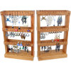 Ring Holder Jewelry Organizer Wood Wall Hanging Jewelry Display
