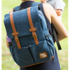 Fashion Cotton Fabric Baby Nappy Diaper Bag Mummy Backpack