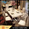 Japanese Silver Metal 6 Seater Dining Table Set