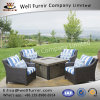 Well Furnir WF-17057 Patio Dining Set With Fire Table