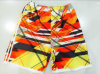 Oeko-Tex Flat Waist Polyester Patterned Men Board Short Swimwear